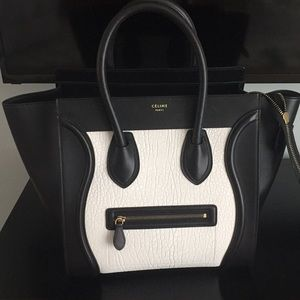 Barely used authentic Celine mini luggage tote